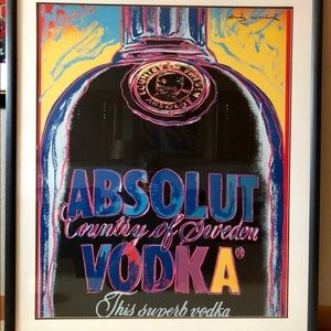 Andy Warhol Absolut Limited Edition Lithograph